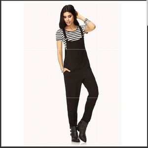 Forever 21 Pants - Forever 21 Streetchic Overalls Size S Black